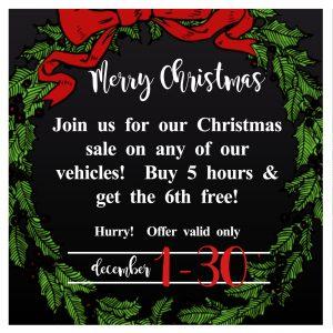 Christmas Sale | Regal Limousine Car Service Middlesex NJ
